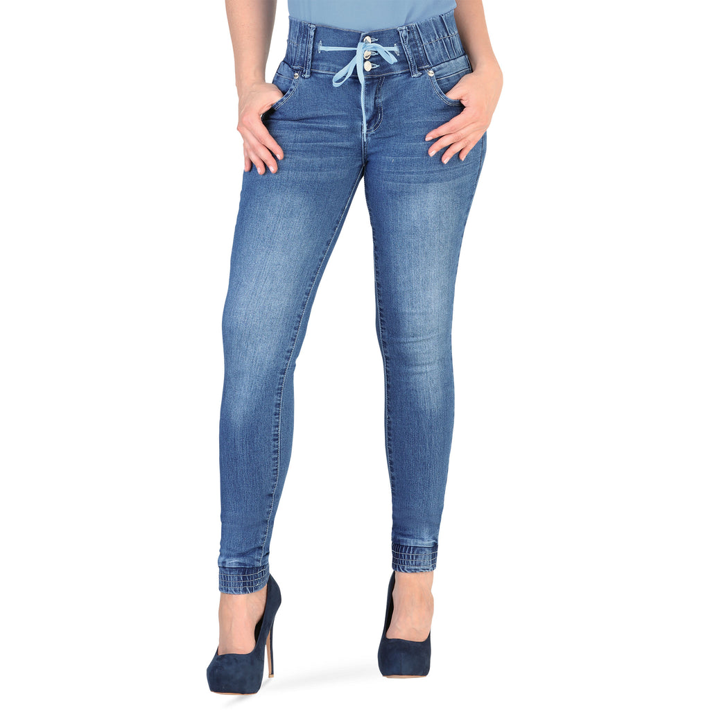 Danesi - Jeans - Y1651 - Stretch Denim Jeans with Elastic Hem