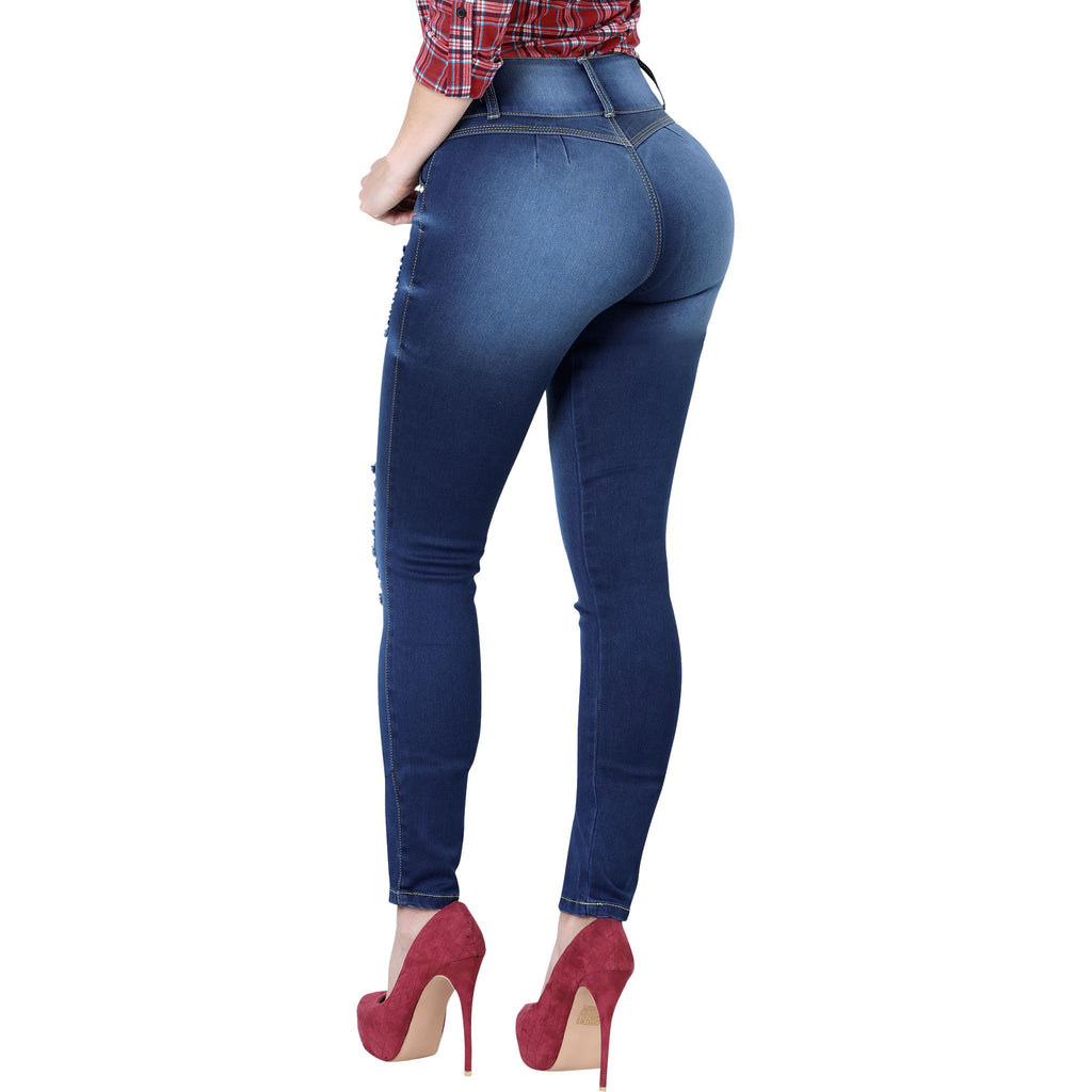Lamasini - Jeans - LP59 - Distressed Colombian Jeans