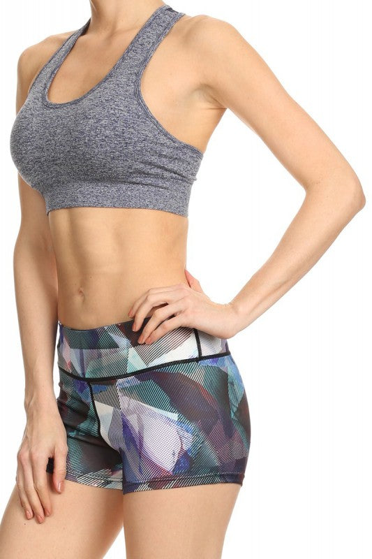 Kapion - Sports Bras - A7BR03 - Sports Bra with Mesh Zipper Back & Wording Puller Tab