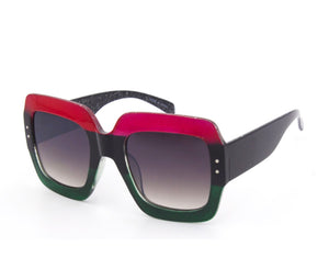 Tricolor Studded Aviator