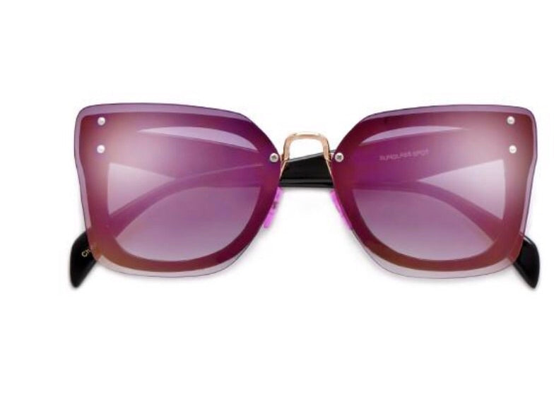 Purple Mirrored Cateye