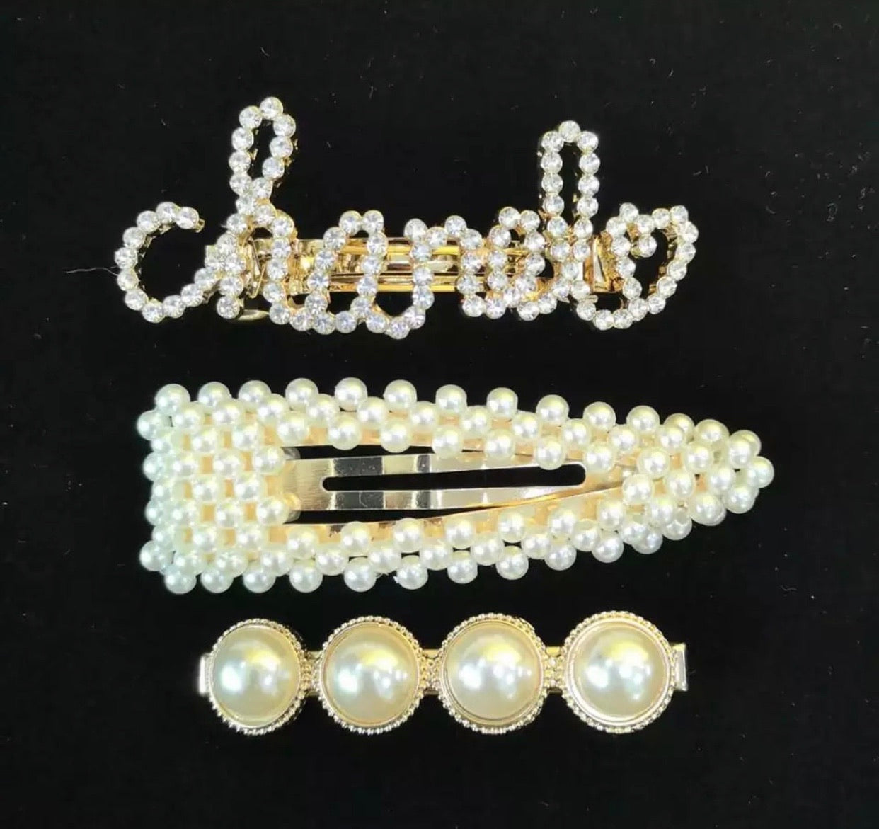 Chanel Love Hairpin set