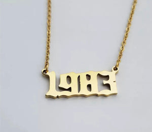 Born Year Necklace