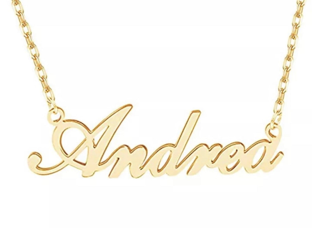 Personalized Cursive Name Plate Necklace or Bracelet