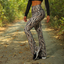 Load image into Gallery viewer, ZEBRA PRINT FLARE LEGGINGS