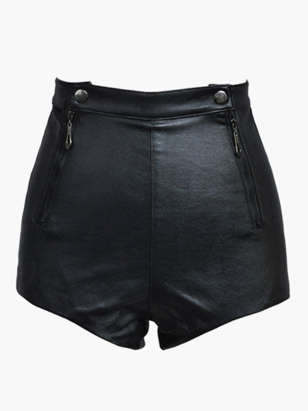 Sexy PU Leather Shorts For Women