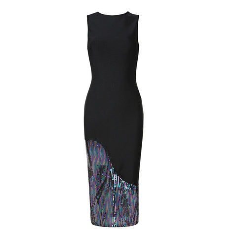 Milly Sleeveless Bodycon Sequined Dress