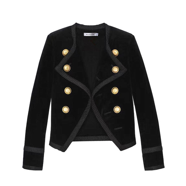 Yara Notched Collar Blazer