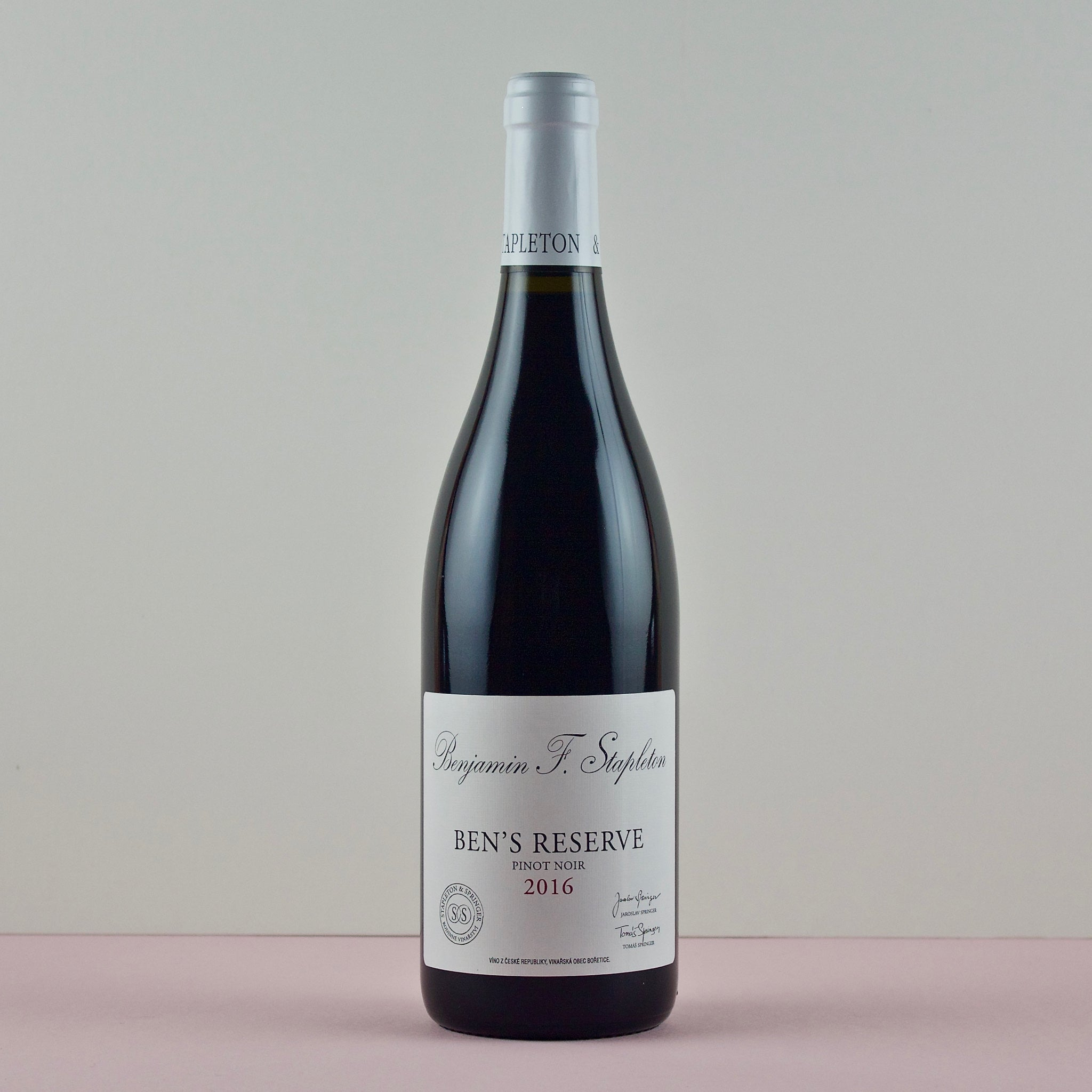 Ben's Reserve Pinot Noir, Stapleton and Springer, Moravia, Czech Republic