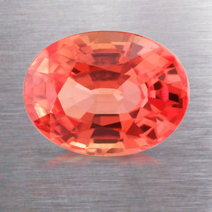 1.54 CARAT OVAL CUT NATURAL ORANGE SAPPHIRE