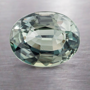 3.02 CARAT CUSHION NATURAL GREEN SAPPHIRE