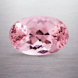 3.72 CARAT OVAL NATURAL PINK MORGANITE