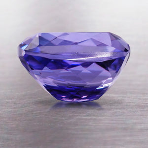 3.95 CARAT LONG CUSHION NATURAL TANZANITE