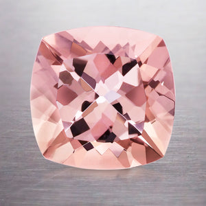 6.00 CARAT CUSHION NATURAL PINK PEACH MORGANITE
