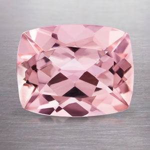 2.46 CARAT CUSHION NATURAL PINK MORGANITE