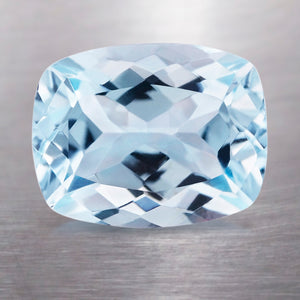 1.85 CARAT LONG CUSHION NATURAL BLUE AQUAMARINE