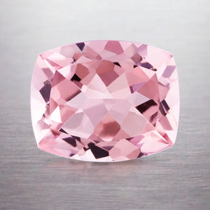 3.38 CARAT CUSHION NATURAL PINK MORGANITE