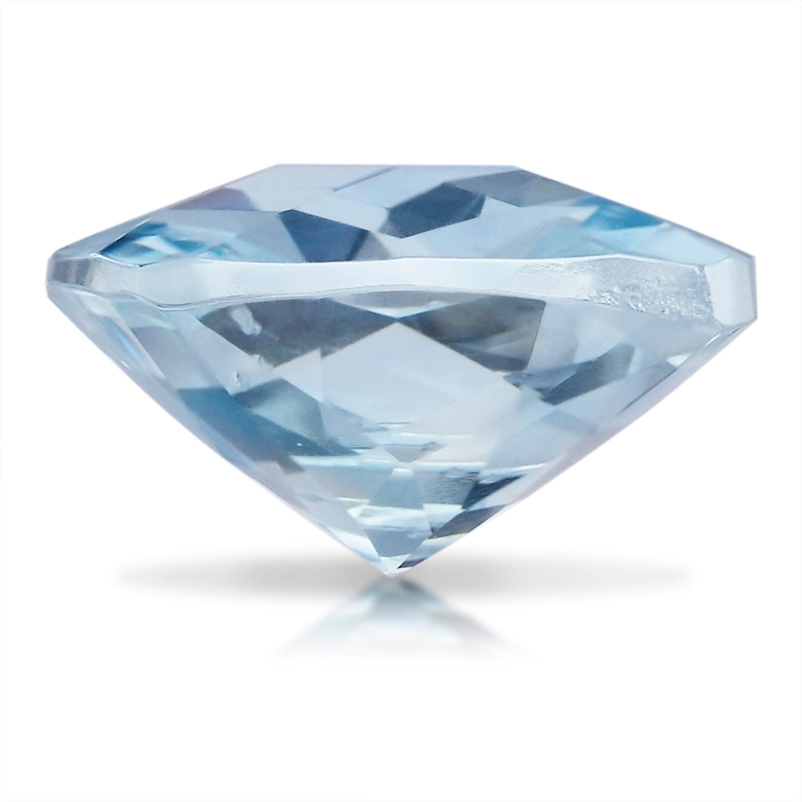 2.28 CARAT CUSHION NATURAL BLUE AQUAMARINE