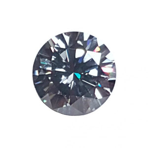 Round Brilliant – Gray Pristine Moissanite