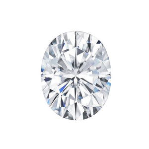 Forever One Oval Near-Colorless Moissanite Gemstone