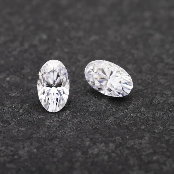 Forever One Elongated Oval Colorless Moissanite Gemstone