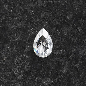 Forever One Pear Rose Cut Near-Colorless Moissanite