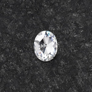 Forever One Oval Rose Cut Near-Colorless Moissanite