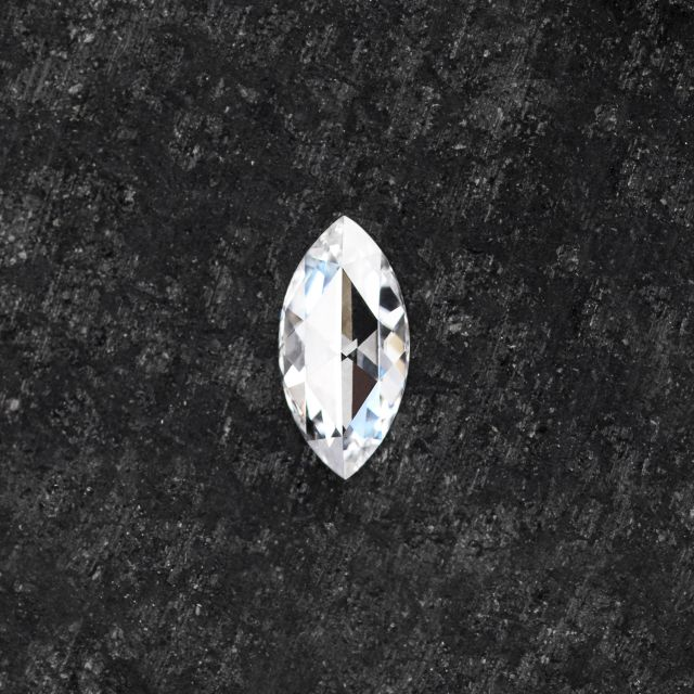 Forever One Marquise Rose Cut Near-Colorless Moissanite