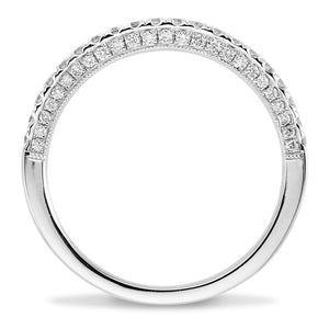 Round Diamond Wedding Band 18kt White Gold