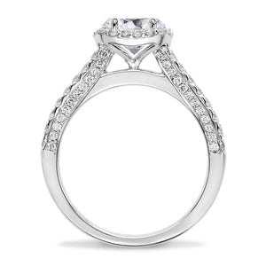 Forever One Moissanite Round Diamond Engagement Ring Platinum