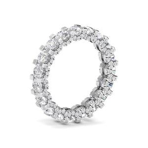 Moissanite Eternity Band 18kt Gold