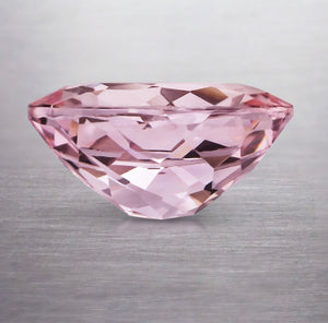 Genuine Intense Pink Morganite - 10x8mm Oval Shaped Gemstone 2.37 Carat Pristine Custom Rings