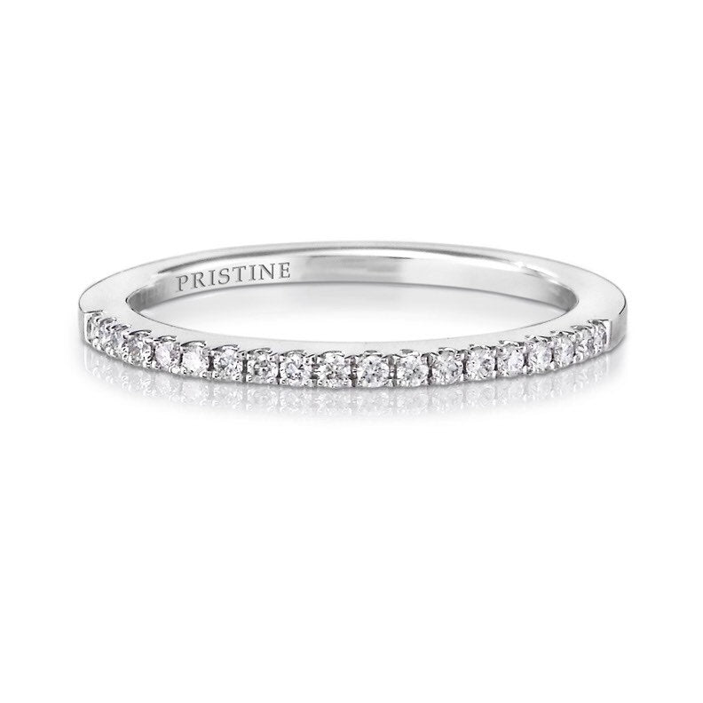 Diamond Wedding Band Round Diamonds .13ct French Pave Set Diamond Band 18k White Gold Wedding Band Anniversary Band Wedding Ring