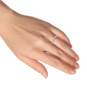 Pave Diamond Wedding Band 18k White Gold