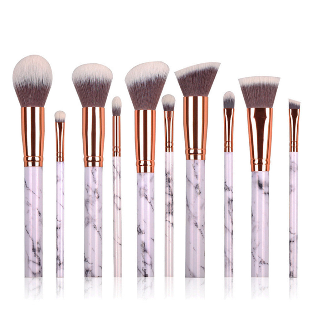 LUX BLUSH WHITE MARBLE BRUSH KIT