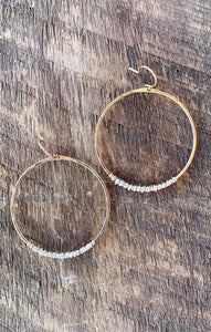 Silver Wrapped Gold Earrings