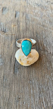 Faceted Pear Turquoise Ring