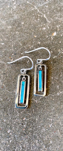 In the Box Turquoise Earrings