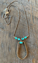 Faceted Turquoise Two Tone Necklace