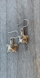 Fossilized Ivory Turtle Earrings