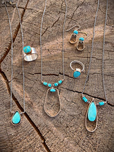 Faceted Turquoise Tear Drop Necklace