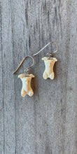 Fossilized Ivory Bear Earrings