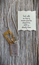 """Faith tells me that no matter what..."" Necklace"