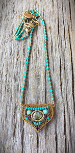 Turquoise and Abalone Necklace