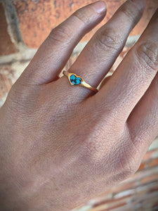 Turquoise and 14kt Gold Ring