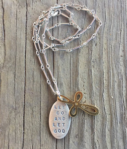 """Let go and let God"" Necklace"