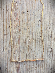 Gold Wave Necklace