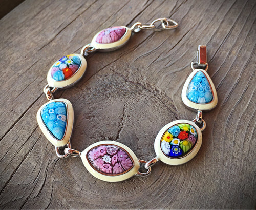 Venetian Glass and Enamel Bracelet