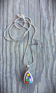 Venetian Glass Teardrop Necklace