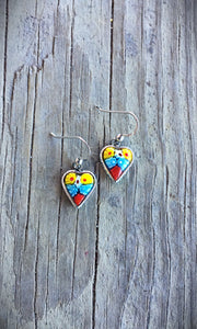 Venetian Glass Heart Earrings